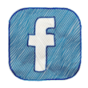 FaceBook-handwritten icon