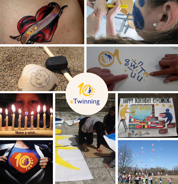 collage 10 aniversario eTwinning