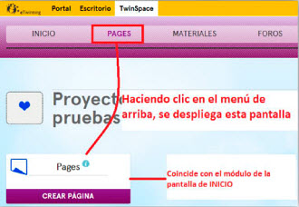 create pages new TS